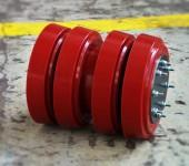Pistons with polyurethane elastomer rings